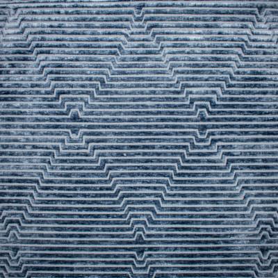 S1105 Midnight Fabric: S10, S03, VELVET STRIPE, STRIPED VELVET, GEOMETRIC STRIPE, CONTEMPORARY VELVET, GEOMETRIC VELVET, BLUE VELVET,BLUE STRIPE VELVET, PLUSH VELVET, MID CENTURY MODERN, MID CENTURY VELVET, MIDNIGHT, ANNA ELISABETH