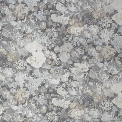 S1138 Flint Fabric: S04, ANNA ELISABETH, FLORAL GRAY PRINT, GRAY PRINT, GRAY FLORAL PRINT, WATERCOLOR FLORAL PRINT, WATERCOLOR PRINT