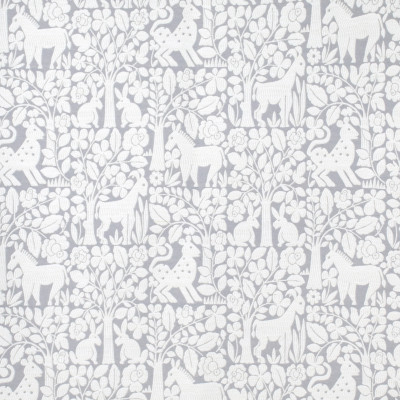 S1143 Mineral Fabric: S04, ANNA ELISABETH, WOODLAND ANIMALS, GRAY ANIMAL, ANIMAL GRAY, WHITE AND GRAY ANIMALS, DEER