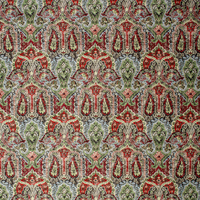 S1176 Crimson Fabric: S05, MEDALLION PRINT, NEUTRAL MEDALLION, RED MEDALLION, NEUTRAL PRINT, RED PRINT,  ANNA ELISABETH