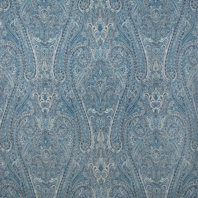 S1180 Midnight Blue Fabric: S05, WOVEN BLUE MEDALLION, BLUE SCROLL, BLUE PAISLEY, BLUE MEDALLION,  ANNA ELISABETH