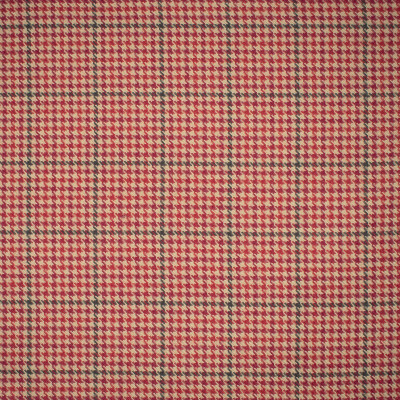 S1185 Sumac Fabric: S05, NEUTRAL HOUNDSTOOTH, RED HOUNDSTOOTH, NEUTRAL WOVE, RED WOVEN,  ANNA ELISABETH