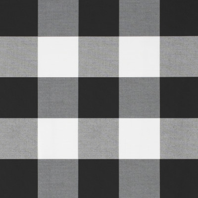 S1221 Domino Fabric: S06, OUTDOOR, BLACK AND WHITE PLAID, OUTDOOR BUFFALO CHECK, BLACK AND WHITE OUTDOOR BUFFALO PLAID, BLACK AND WHITE