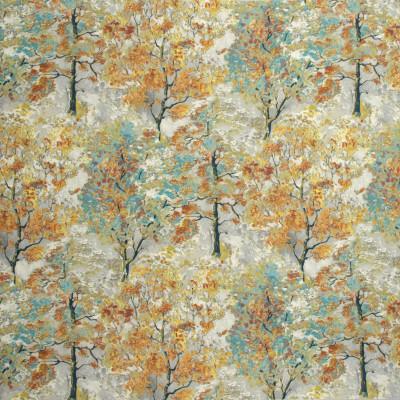 S1272 Phoenix Fabric: S07, COTTON, 100% COTTON, ORANGE FLORAL, GRAY FLORAL, GREY FLORAL, FLORAL PRINT, ANNA ELISABETH