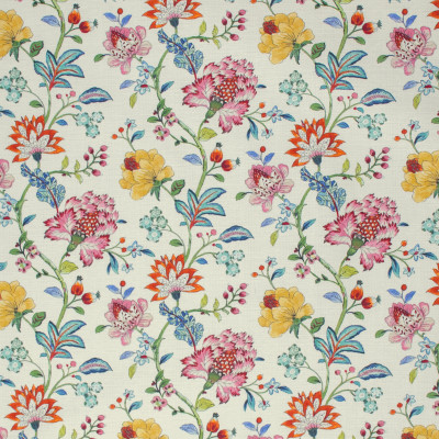 S1273 Garden Party Fabric: S07, COTTON, 100% COTTON, ANNA ELISABETH, NEUTRAL FLORAL, FLORAL PRINT, MULTICOLOR FLORAL