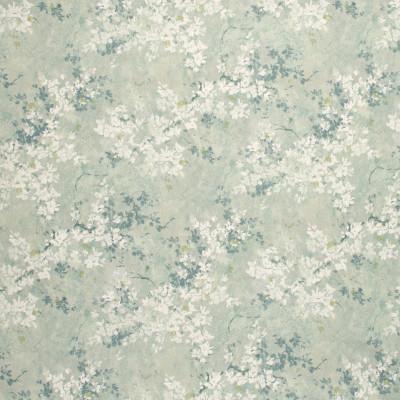 S1276 Habor Mist Fabric: S07, COTTON, 100% COTTON, ANNA ELISABETH, FLORAL PRINT, FLORAL BLUE, BLUE PRINT