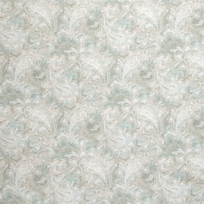 S1277 Morning Mist Fabric: S07, COTTON, 100% COTTON, ANNA ELISABETH, PAISLEY PRINT, PAISLEY BLUE, BLUE PRINT, NEUTRAL PAISLEY, NEUTRAL PRINT