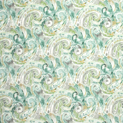 S1280 Seaspray Fabric: S07, COTTON, 100% COTTON, ANNA ELISABETH, GREEN SCROLL, TEAL SCROLL, SCROLL PRINT, TEAL PRINT, GREEN PRINT