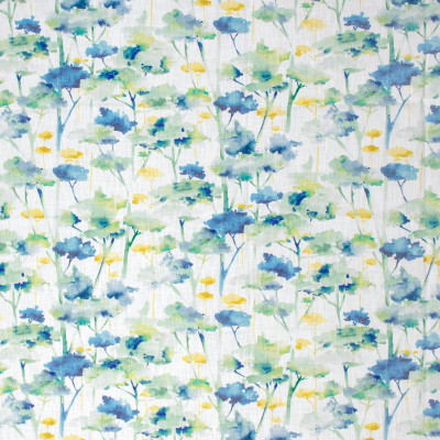 S1286 Topiary Fabric: S07, COTTON, 100% COTTON, ANNA ELISABETH, FLORAL PRINT, BLUE FLORAL, YELLOW FLORAL, BLUE PRINT, YELLOW PRINT
