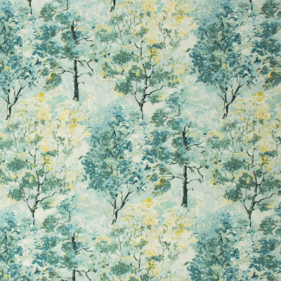 S1287 Seawind Fabric: S07, COTTON, 100% COTTON, ANNA ELISABETH, FLORAL PRINT, GREEN FLORAL, GREEN PRINT, TEAL FLORAL, TEAL PRINT