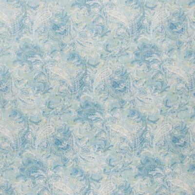 S1290 Skylark Fabric: S07, COTTON, 100% COTTON, ANNA ELISABETH, PAISLEY PRINT, PAISLEY BLUE, BLUE PRINT, WHITE PAISLEY, WHITE PRINT