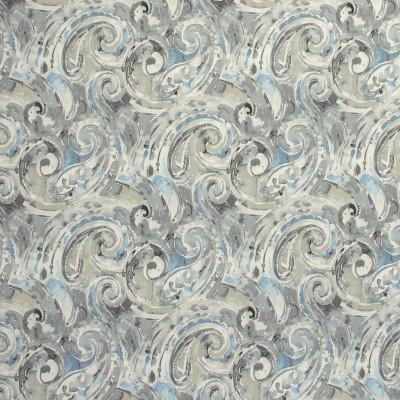 S1294 Frost Fabric: S07, COTTON, 100% COTTON, ANNA ELISABETH, GRAY PAISLEY, BLUE PAISLEY, PAISLEY PRINT, GRAY PRINT, BLUE PRINT