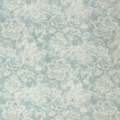 S1299 Eucalyptus Fabric: S07, COTTON, 100% COTTON, ANNA ELISABETH, FLORAL PRINT, BLUE PRINT, BLUE FLORAL PRINT, TEAL FLORAL, TEAL PRINT