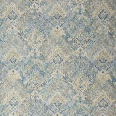 S1303 River Fabric: S07, COTTON, 100% COTTON, ANNA ELISABETH, BLUE CONTEMPORARY, BLUE PRINT, CONTEMPORARY PRINT, BLUE MEDALLION, NEUTRAL MEDALLION