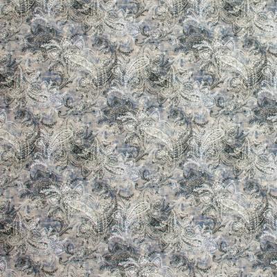 S1305 Blue Smoke Fabric: S07, COTTON, 100% COTTON, ANNA ELISABETH, BLUE PAISLEY, PAISLEY PRINT, GRAY PAISLEY, BLUE PRINT, GRAY PRINT