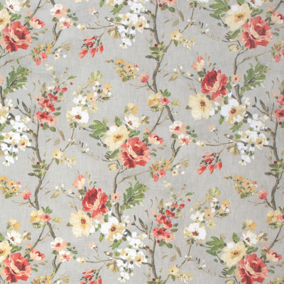 S1315 Rustic Fabric: S07, COTTON, 100% COTTON, ANNA ELISABETH, FLORAL PRINT, RED FLORAL, GRAY FLORAL, GREY FLORAL, GRAY PRINT, GREY PRINT, RED PRINT