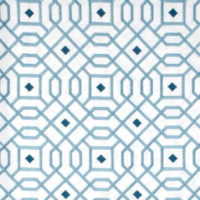 S1366 Marina Fabric: S08, EMBROIDERY, ANNA ELISABETH,  BLUE EMBROIDERY, EMBROIDERY BLUE, BLUE GEOMETRIC, GEOMETRIC BLUE, GEOMETRIC BLUE EMBROIDERY
