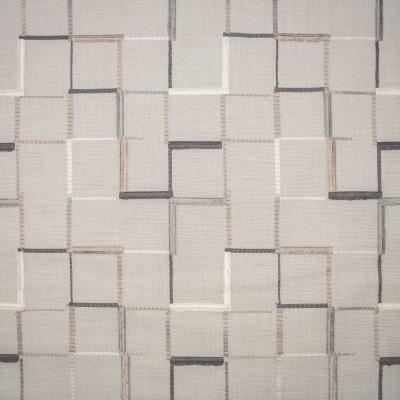 S1377 Truffle Fabric: S08, EMBROIDERY, ANNA ELISABETH, NEUTRAL EMBROIDERY, EMBROIDERY NEUTRAL, GEOMETRIC NEUTRAL, NEUTRAL GEOMETRIC, GEOMETRIC SQUARES, NEUTRAL SQUARE GEOMETRIC