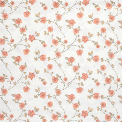 S1381 Sunrise Fabric: S08, EMBROIDERY, ANNA ELISABETH, ORANGE FLORAL, FLORAL ORANGE, FLORAL EMBROIDERY, ORANGE FLORAL EMBROIDERY, FLORAL ORANGE EMBROIDERY