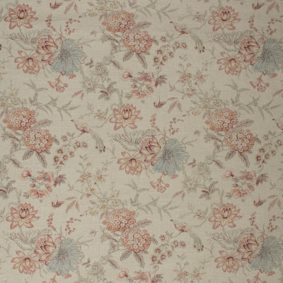 S1419 Giardino Fabric: S09, ANNA ELISABETH, FLORAL NEUTRAL, NEUTRAL FLORAL, WHITE FLORAL, WHITE FLOWERS, NEUTRAL FLOWERS, RED FLORAL, RED AND NEUTRAL FLORAL