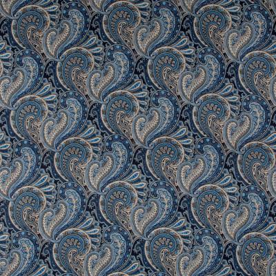 S1431 Porcelain Fabric: S10, LINEN, 100% LINEN, BLUE PRINT, TAN PRINT, TAN PAISLEY, BLUE PAISLEY, PAISLEY PRINT, BLUE PAISLEY PRINT, TAN PAISLEY PRINT, ANNA ELISABETH