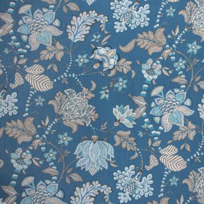 S1450 Sapphire Fabric: S10, FLORAL BLUE PRINT, FLORAL BLUE, FLORAL PRINT, BLUE FLORAL PRINT,  ANNA ELISABETH