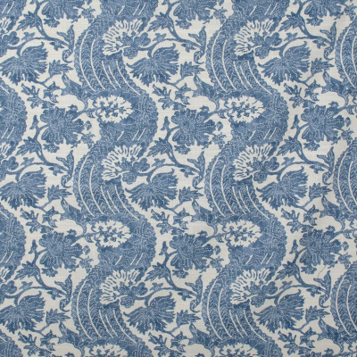 S1456 Chambray Fabric: S10, FLORAL BLUE WOVEN, BLUE WOVEN, BLUE FLORAL, FLORAL WOVEN,  ANNA ELISABETH