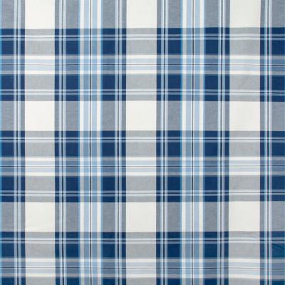 S1462 Porcelain Fabric: S10, COTTON, 100% COTTON, PLAID WOVEN, WOVEN PLAID, BLUE WOVEN, BLUE PLAID, BLUE WOVEN PLAID, ANNA ELISABETH