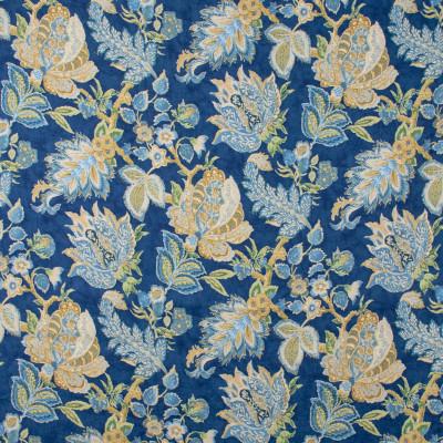 S1464 Royal Fabric: S10, LINEN, 100% LINEN, FLORAL BLUE PRINT, FLORAL BLUE, FLORAL PRINT, BLUE FLORAL PRINT,  ANNA ELISABETH