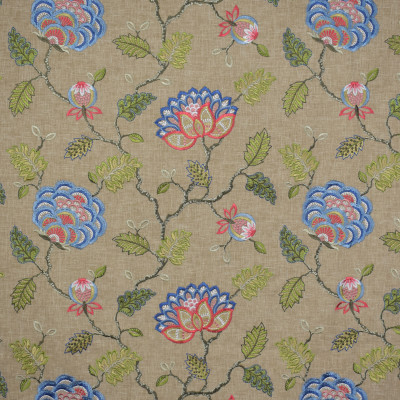 S1582 Wheaton Fabric: S12, ANNA ELISABETH, CATHEDRAL SAINT-ANDRE, BORDEAUX, BROWN, EMBROIDERY, FLORAL, FLORAL EMBROIDERY, BROWN FLORAL, NEUTRAL, NEUTRAL EMBROIDERY, NEUTRAL FLORA, RED, BLUE, RED FLORAL, BLUE FLORAL, RED EMBROIDERY, BLUE EMBROIDERY, LINEN, FAUX LINEN, WHEATON