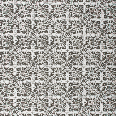 S1592 Java Fabric: S12, ANNA ELISABETH, CATHEDRAL SAINT-ANDRE, BORDEAUX, CONTEMPORARY, PRINT, CONTEMPORARY PRINT, BROWN PRINT, CREAM, CREAM PRINT, WHITE, WHITE PRINT, DARK BROWN