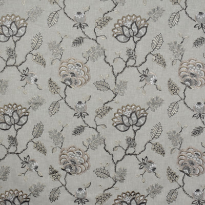 S1607 Steel Fabric: S13, TAUPE FLORAL EMBROIDERY, GRAY FLORAL EMBROIDERY, FLORAL EMBROIDERY, EMBROIDERY, FLORAL, BORDEAUX, ANNA ELISABETH
