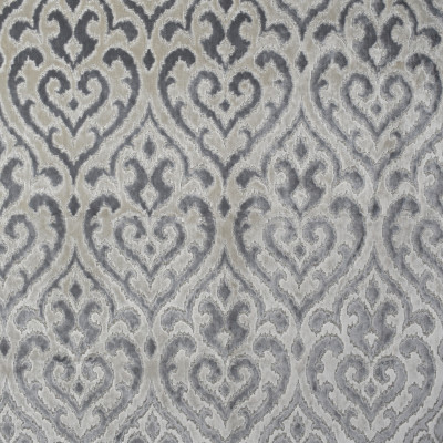 S1610 Grey Fabric: S13, SCULPTED VELVET, FLOCKED VELVET, GRAY SCULPTED VELVET, BORDEAUX, ANNA ELISABETH