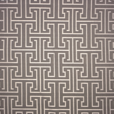 S1634 Stone Fabric: S13, GRAY GEOMETRIC WOVEN, DAMASK, GRAY GREEK KEY, GRAY AND SILVER GEOMETRIC WOVEN BORDEAUX, ANNA ELISABETH