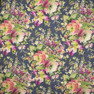 S1641 Cindersmoke Fabric: S13, GRAY FLORAL, GRAY AND PINK FLORAL, FLORAL PRINT, GRAY FLORAL PRINT, FLORAL COTTON PRINT, BORDEAUX, ANNA ELISABETH