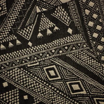 S1649 Onyx Fabric: S13, BLACK AND BEIGE GEOMETRIC, GEOMETRIC PRINT, BLACK GEOMETRIC PRINT, BORDEAUX, ANNA ELISABETH