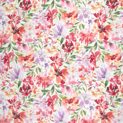 S1700 Wood Rose Fabric: S14, RASPBERRY FLORAL PRINT,WATERMELON FLORAL PRINT, CORAL FLORAL PRINT, PINK FLORAL PRINT, ROSE FLORAL PRINT,