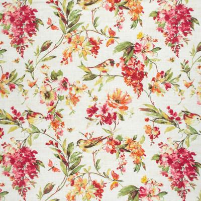 S1715 Harvest Fabric: S14, RED FLORAL PRINT, CORAL FLORAL PRINT, ORANGE FLORAL PRINT, COTTON PRINT, FLORAL PRINT, BORDEAUX, ANNA ELISABETH