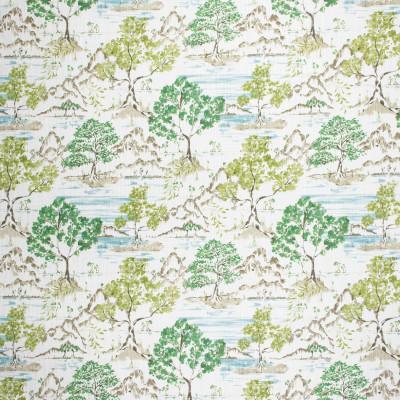 S1733 Willow Fabric: S15, ANNA ELISABETH, BORDEAUX, COTTON PRINT, ASIAN PRINT, GREEN PRINT, FOLIAGE, 100% COTTON
