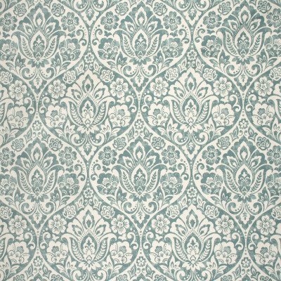 S1751 Mineral Fabric: S15, TEAL, FLORAL, MEDALLION, SCROLL, WOVEN, ANNA ELISABETH, BORDEAUX