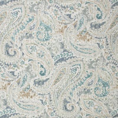 S1757 Vapor Fabric: S15, TEAL, MULTI-COLOR PRINT, PRINT, PAISLEY, COTTON, 100% COTTON, ANNA ELISABETH, BORDEAUX