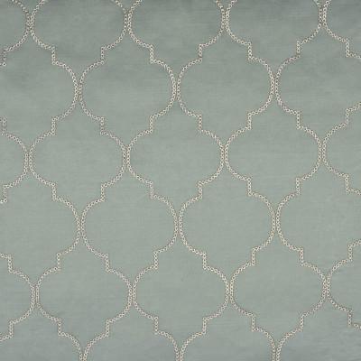 S1758 Blue Fabric: S15, SEQUINS, LATTICE, MEDALLION, EMBROIDERY, TEAL, SILVER, FAUX SILK, SILK LIKE, ANNA ELISABETH, BORDEAUX