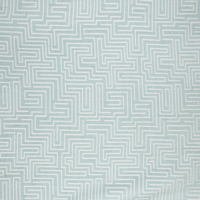 S1762 Seafoam Fabric: S15, TEAL, BLUE, SPA, GEOMETRIC, GREEK KEY, MEDIUM-SCALE, WOVEN, ANNA ELISABETH, BORDEAUX