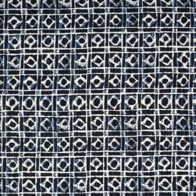 S1787 Marine Fabric: S15, NAVY, PRINT, DOT, GEOMETRIC, ANNA ELISABETH, BORDEAUX