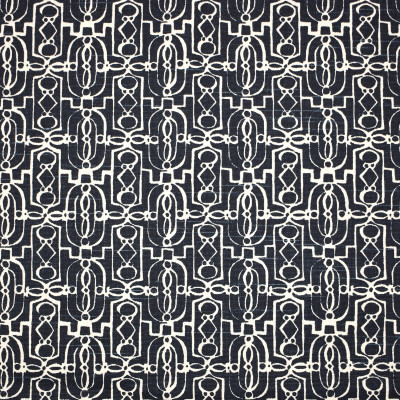 S1789 Navy Fabric: S15, PRINT, GEOMETRIC, CONTEMPORARY, NAVY, BLUE, ANNA ELISABETH, BORDEAUX