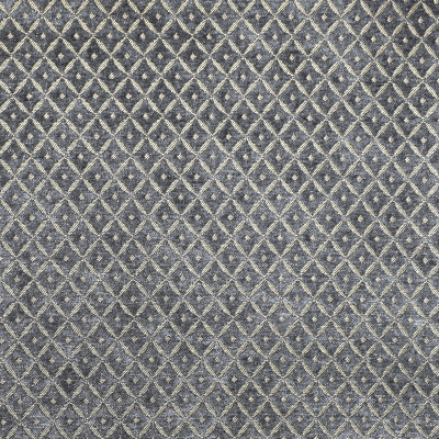 S1809 Graphite Fabric: S16, GRAY CHENILLE, DIAMOND CHENILLE, DIAMOND GEOMETRIC, GEOMETRIC, DOT, GRAPHITE, ANNA ELISABETH
