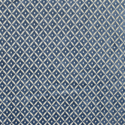 S1823 Chambray Fabric: S16, BLUE CHENILLE, FRENCH BLUE, DIAMOND GEOMETRIC, DIAMOND, GEOMETRIC, SMALL-SCALE, CHAIR-SCALE, ANNA ELISABETH