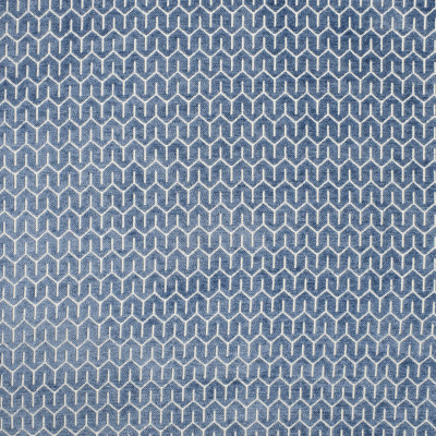 S1825 French Blue Fabric: S16, BLUE CHENILLE, FRENCH BLUE, GEOMETRIC CHENILLE, GEOMETRIC, ANNA ELISABETH