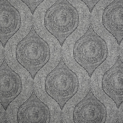 S1854 Domino Fabric: S17, ANNA ELISABETH, TEXTURED MEDALLION, CHENILLE MEDALLION, BLACK AND WHITE MEDALLION, BLACK AND WHITE CHENILLE
