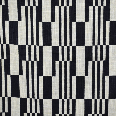 S1860 Domino Fabric: S17, ANNA ELISABETH, CONTEMPORARY GEOMETRIC PRINT, BLACK AND NEUTRAL PRINT, BLACK AND NEUTRAL GEOMETRIC, CONTEMPORARY BLACK AND NEUTRAL